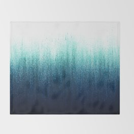 Teal Ombré Throw Blanket