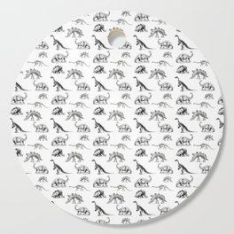 Museum Animals | Dinosaur Skeletons on White Cutting Board