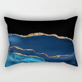 Beautiful Blue Pattern Design Rectangular Pillow
