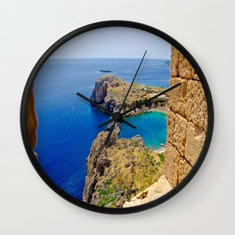 Lindos and the Sea Wall Clock