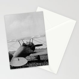Military Biplane - Marine Flying Field - 1918 Stationery Cards