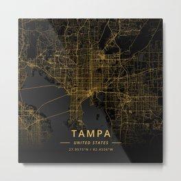 Tampa, United States - Gold Metal Print