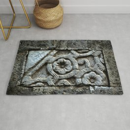 Medieval Carved Stone Wall Rug