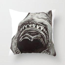 Shark Jaws Throw Pillow