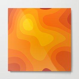Abstract Yellow To Orange Liquid Metal Print