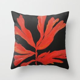Fan Coral, Living coral, painting Throw Pillow