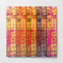 no. 235 pink orange brown red yellow gold pattern Metal Print
