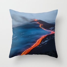 WHEN THE BEACH TURNS RED Throw Pillow