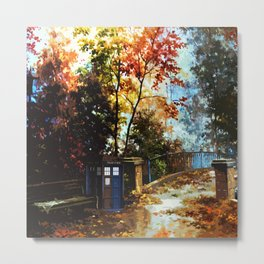 Tardis Art Stand Side The Bridge Metal Print