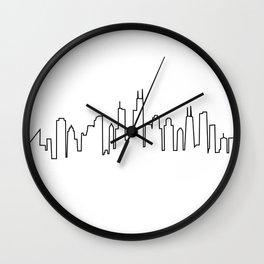 Chicago, Illinois City Skyline Wall Clock