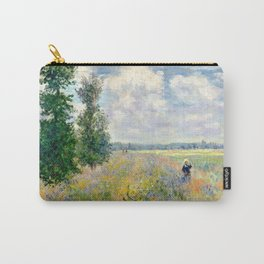 Poppy Fields near Argenteuil by Claude Monet Carry-All Pouch
