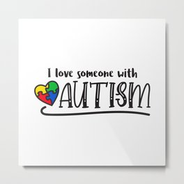 Autism, autism awareness, rainbow puzzle Metal Print