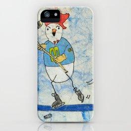 Hockey Chicken iPhone Case