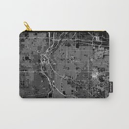 Denver Black Map Carry-All Pouch