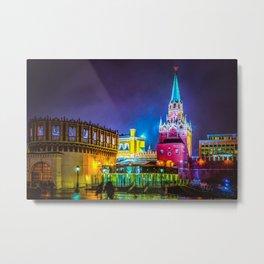 The Kremlin Kutafia Tower And Tourist Gate To The Kremlin Metal Print