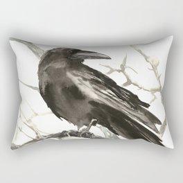 Raven on the Tree Rectangular Pillow