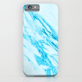 Blue and Cream Marble Pattern iPhone Case