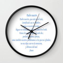Padre nuestro Wall Clock