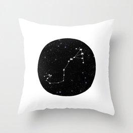 Scorpio black and white star chart zodiac star signs minimal decor Throw Pillow