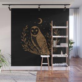 Owl Moon - Gold Wall Mural