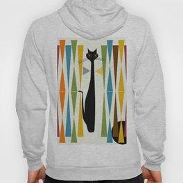 Mid-Century Modern Art Cat 2 Hoodie