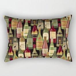 Wine Bottles Rectangular Pillow