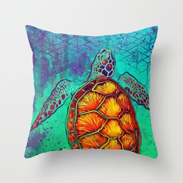 Swim in Eternal Seas Throw Pillow