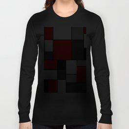 Red Black and Grey squares Langarmshirt