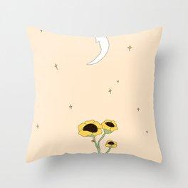 FLORA LUNA Throw Pillow