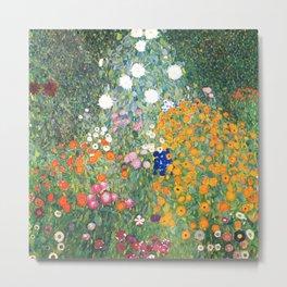 "Gustav Klimt ""Blumengarten (Flower Garden)"" Metal Print"