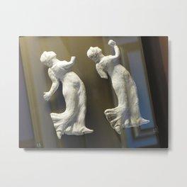 Dancing in the Louvre Metal Print