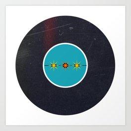 Vinyl Record Art & Design | Mid-Century Modern Starburst Art Print