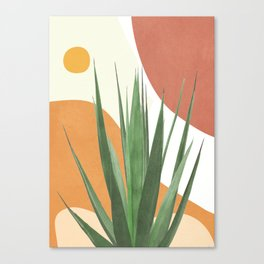 Abstract Agave Plant Canvas Print