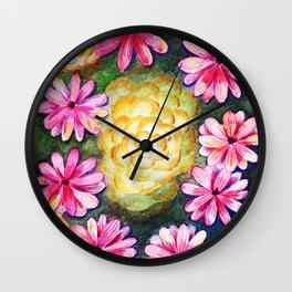 FLORES SOBRE EL AGUASOBRE Wall Clock