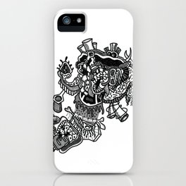 Abstract Style Corazón Crazy iPhone Case
