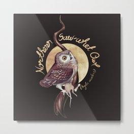 Northern Saw-whet Owl Metal Print