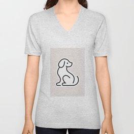 Dog Grey #1 Unisex V-Neck