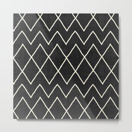Avoca in Black and White Metal Print