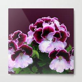 Pink Purple Flower Power Metal Print