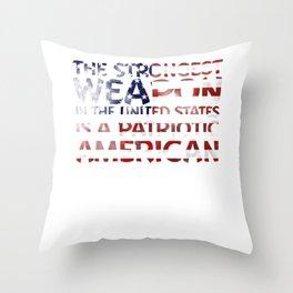 United States Patriotic American Throw Pillow