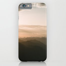 Mountain Sunrise in the german Alps - Landscape Photography iPhone Case