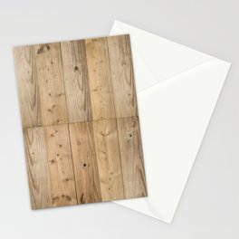 Wood Planks Light Stationery Cards