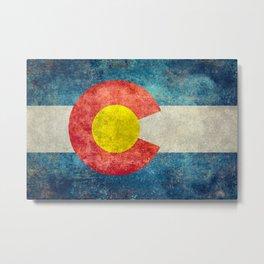 Colorado State flag, Vintage retro style Metal Print