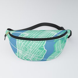 New York Map Print | Green II | More Colors, Review My Collections Fanny Pack
