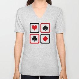 Playing card Unisex V-Neck