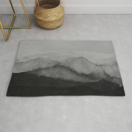 BLACK Mountains Rug