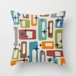 Retro Mid Century Modern Abstract Pattern 224 Throw Pillow