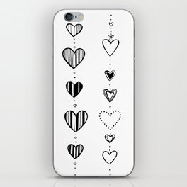 Heart garlans iPhone Skin