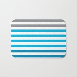 Stripes Gradient - Blue Bath Mat