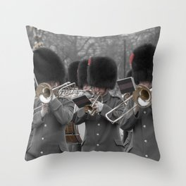 Musicians Play at the Regal Ritual of the Changing of the Guard at Buckingham Palace London England Throw Pillow